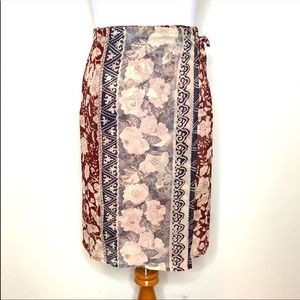 Etro Milano Silk Floral Wrap Skirt